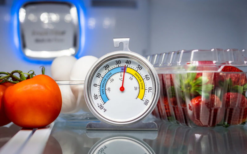 caterers monitor food temp